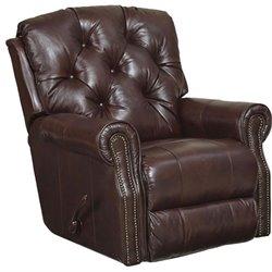 Catnapper Davidson Leather Rocker Recliner in Bordeaux
