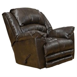 Catnapper Filmore Leather Rocker Recliner in Timber