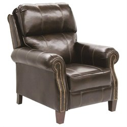 Catnapper Frazier Leather Reclining Chair in Java