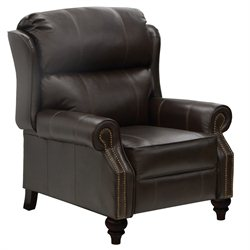 Catnapper Biltmore Leather Reclining Chair in Mahogany