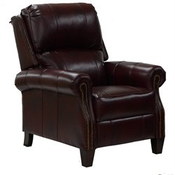 Catnapper Cambridge Leather Reclining Chair in Coffee