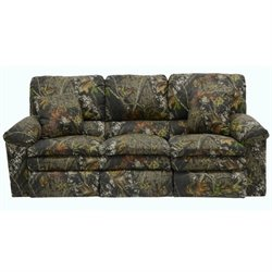Catnapper Duck Dynasty Reclining Fabric Sofa in Moss