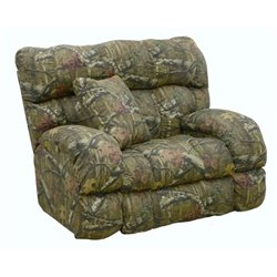 Catnapper Duck Dynasty Lay Flat Fabric Recliner in Mossy Oak Infinity