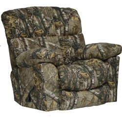 Catnapper Duck Dynasty Chimney Rock Lay Flat Recliner in Green