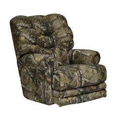 Catnapper Duck Dynasty Big Falls Lay Flat Recliner in Green