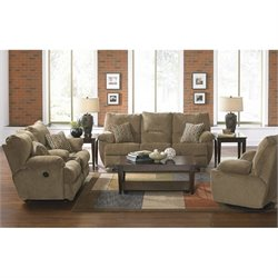 Catnapper Gavin 3 Piece Power Reclining Console Sofa Set in Desert