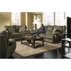 Catnapper Gavin 3 Piece Reclining Sofa Set in Foliage