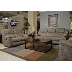 Catnapper Valiant Drop Down Table Power Reclining Sofa Set in Marble