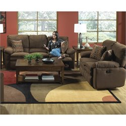 Catnapper Impulse 2 Piece Reclining Fabric Sofa Set in Godiva