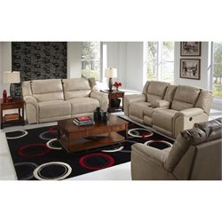 Catnapper Carmine Lay Flat 3 Piece Reclining Leather Sofa Set