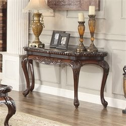 Homelegance Mariacarla Console Table in Dark Cherry