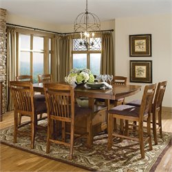 Trent Home Marcel 7 Piece Counter Dining Table Set in Warm Oak