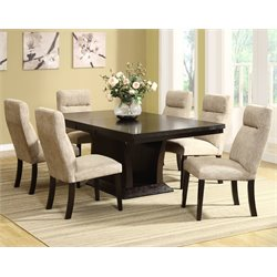 Trent Home Avery 7 Piece Dining Set in Espresso