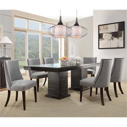 Trent Home Chicago 7 Piece Dining Set in Deep Espresso