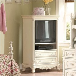 Homelegance Cinderella White TV Armoire for Girls
