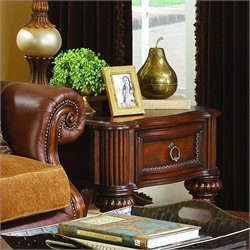 Trent Home Prenzo End Table in Warm Brown Finish