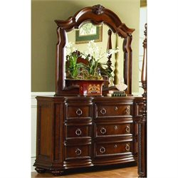 Trent Home Prenzo Triple Dresser in Brown