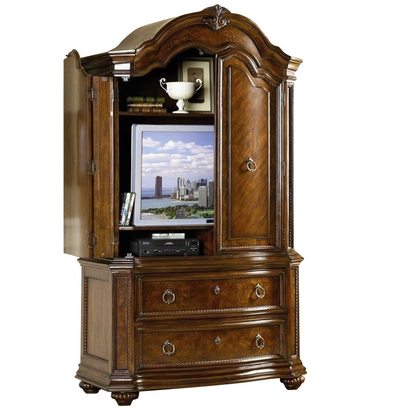 Trent Home Prenzo TV Armoire in Warm Brown Finish