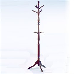 Trent Home Deluxe Cherry Standing Coat Rack with Umbrella Rack