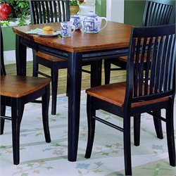 Trent Home Liz Black Dining Table with Cherry Top