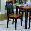 Trent Home Liz Black Slat Back  Dining Chair with Cherry Top