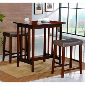 Homelegance 3 Piece Kitchen Dinette Set in Cherry