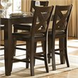 Trent Home Crown Point Counter Height Dining Chair in Merlot (Set of 2)