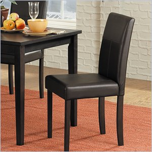 Homelegance Dover Bi-Cast Vinyl Dining Side Chair in Chocolate (Set of 4)