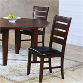 Homelegance Ameillia Dining Side Chair in Dark Oak (Set of 2)