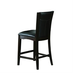 Trent Home Daisy Counter Height Dining Chair in Espresso (Set of 2)