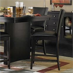 Homelegance Daisy Counter Height Dining Chair in Espresso (Set of 2)