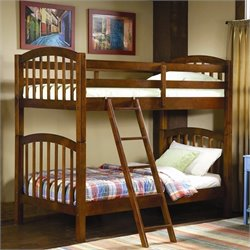 Trent Home Michael Pine Twin Bunk Bed in Rich Brown