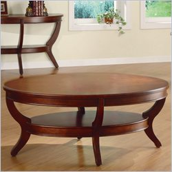 Homelegance Avalon Oval Cocktail Table in Cherry