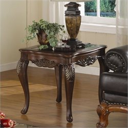 Trent Home Ella Martin End Table in Warm Brown Cherry