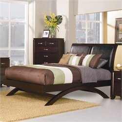 Trent Home Astrid Bed in Espresso - Queen