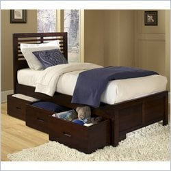 Homelegance Paula Captain Bed with Drawer in Medium Cherry - Full