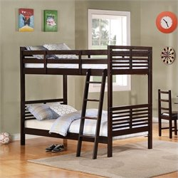 Trent Home Paula II Twin Bunk Bed in Dark Cherry