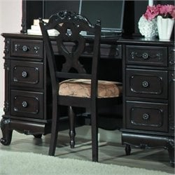 Trent Home Cinderella Writing Desk Chair in Dark Cherry