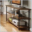 ADD TO YOUR SET: Homelegance Factory Sofa Table in Rustic Brown