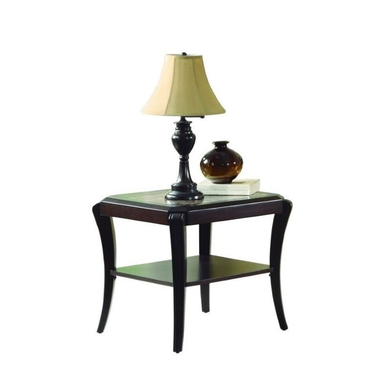 Trent Home Q.Pfifer End Table in Espresso