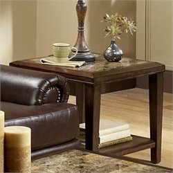 Trent Home Belvedere End Table in Espresso