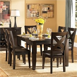 Trent Home Crown Point 7 Piece Dining Table Set in Merlot