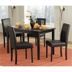 Trent Home Dover 5 Piece Dining Table Set in Black