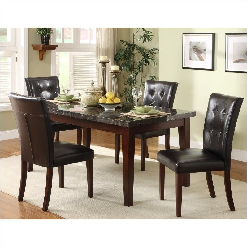 Decatur 5 Piece Dining Table Set in Espresso