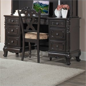 Trent Home Cinderella Writing Desk in Dark Cherry