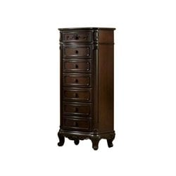 Trent Home Cinderella Tall Chest in Dark Cherry