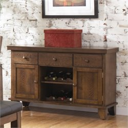 Homelegance Kirtland Server in Warm Oak