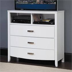Trent Home Lyric TV Chest in White