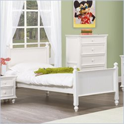 Homelegance Whimsy Bed in White Finish - Twin