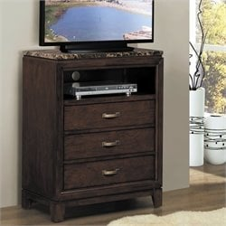 Homelegance Bleeker TV Chest in Brown Cherry